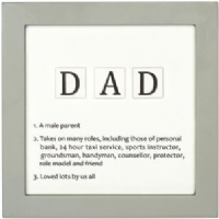 Transomnia - Dad letter tile definition sign